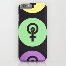 Feminist Power Fist, Tri-Colour Slim Case iPhone 6s