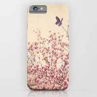 iPhone & iPod Case featuring Butterfly and Pink Blossoms by Pretty Petal Studio