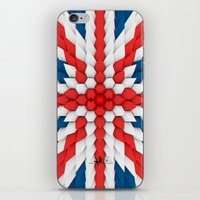 3d Poly Union Jack  Flag iPhone & iPod Skin