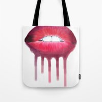 Dripping Lips Tote Bag