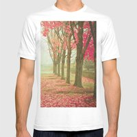 Scarlet Autumn Mens Fitted Tee White SMALL