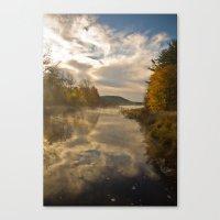 Dawn river. Canvas Print