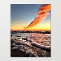 When Clouds Strike Canvas Print