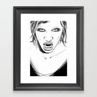 Vampire Lady Framed Art Print