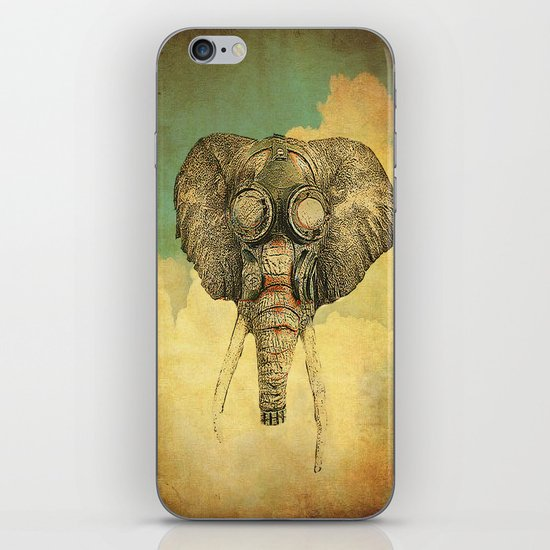 Gas mask for elephant iPhone & iPod Skin