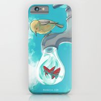 iPhone & iPod Case featuring Am I Free or Food or Friend? by Moonsia