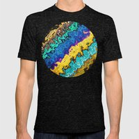 Macro Molecules of Color Mens Fitted Tee Tri-Black SMALL