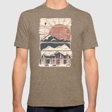 Winter Pursuits... Mens Fitted Tee Tri-Coffee SMALL