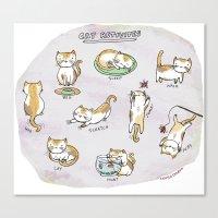 Cat Activities Canvas Print