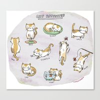 Cat Activities Canvas Print