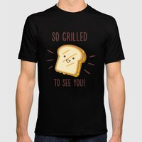 Cheesy Greetings! Mens Fitted Tee Black SMALL