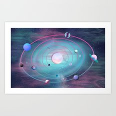Pastel Solar System Art Print