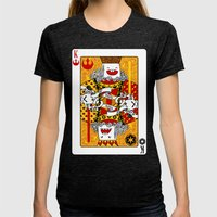 King Of Toys Womens Fitted Tee Tri-Black SMALL