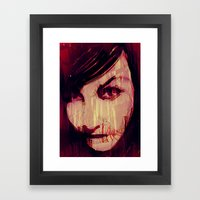 Strange Girl Framed Art Print
