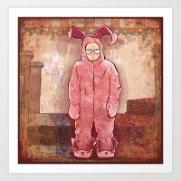 Ralphie's Suit Art Print