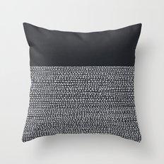 Riverside (Black) Throw Pillow
