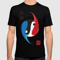The Infinity Fish Mens Fitted Tee Black SMALL