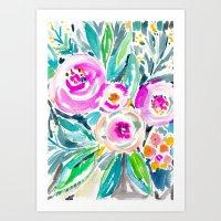 Pink Abundance Floral Art Print