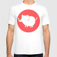 White Elephant Mens Fitted Tee White SMALL