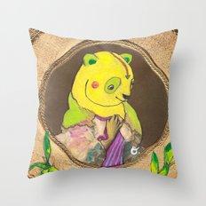 Banana Creme Pie Panda Throw Pillow