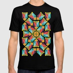 kaleidoscope  SMALL Black Mens Fitted Tee