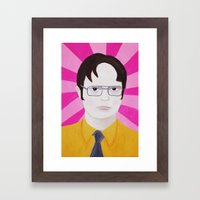 Dwight Framed Art Print
