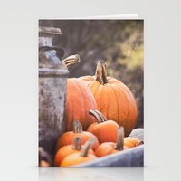 pumpkins + milk cans Stationery Cards