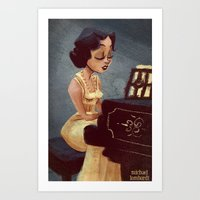 Piano Girl Art Print