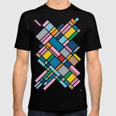 Map Outline 45  SMALL Mens Fitted Tee Black