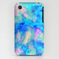 iPhone 3Gs & iPhone 3G Cases featuring Electrify Ice Blue by Amy Sia