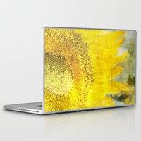 sunflower Laptop & iPad Skins featuring Sunflower by Maria Heyens