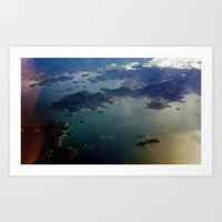 View From The Air Art Print