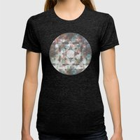 The moons and stars Womens Fitted Tee Tri-Black SMALL