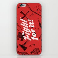Fight For It iPhone & iPod Skin