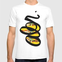 Guitar  Mens Fitted Tee White SMALL
