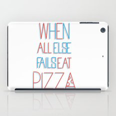 backup plan: pizza iPad Case