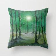 Track 5: Green Winter Throw Pillow