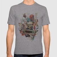 Nostalgia Mens Fitted Tee Athletic Grey SMALL