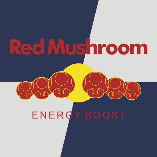 Red Mushroom Energy Boost Art Print