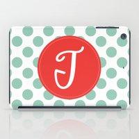 Monogram Initial T Polka… iPad Case