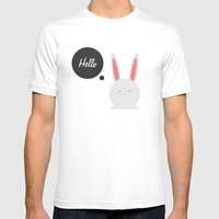 Hello Pets no.4 Mens Fitted Tee White SMALL