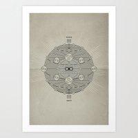 I Ching Spherical Art Print