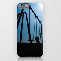 iPhone & iPod Case featuring Abandoned Swing Set by maclac