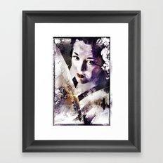 Geisha with Fan Framed Art Print