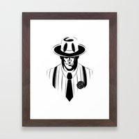 the gangster way Framed Art Print