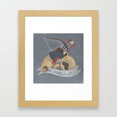 Sir Snores-A-Lot Framed Art Print