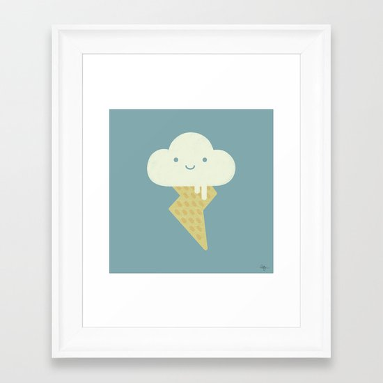 Stormy and Sweet Framed Art Print