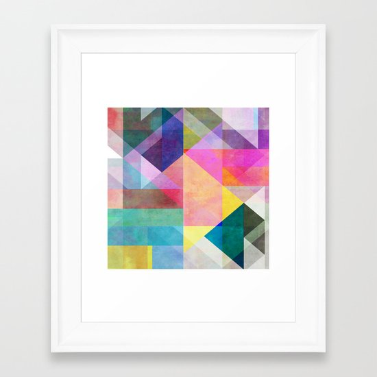 Color Blocking 2 Framed Art Print