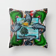 Heal The Earth Cry.... Throw Pillow