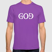 GOD - Ambigram Series (B… Mens Fitted Tee Ultraviolet SMALL